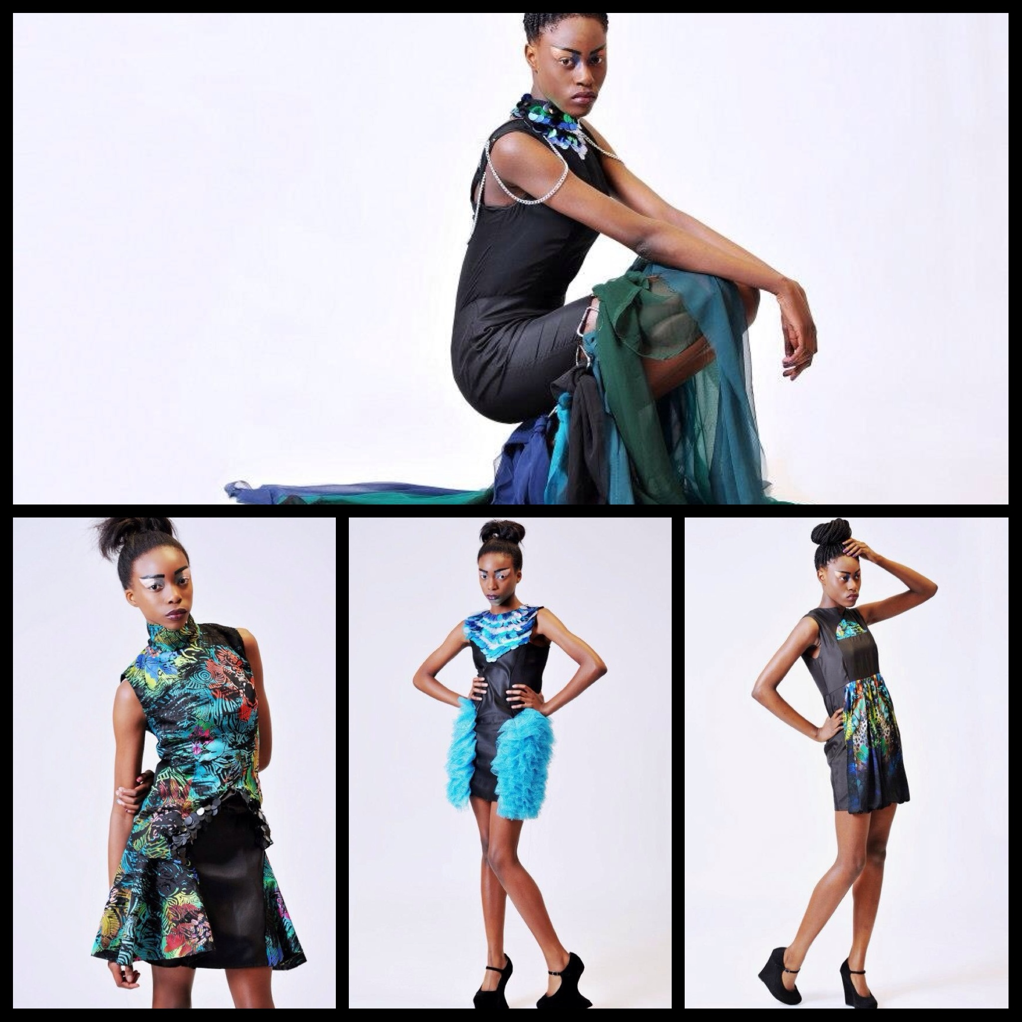 Tumisola Ladega's Midnight Aqua Marine Collection.