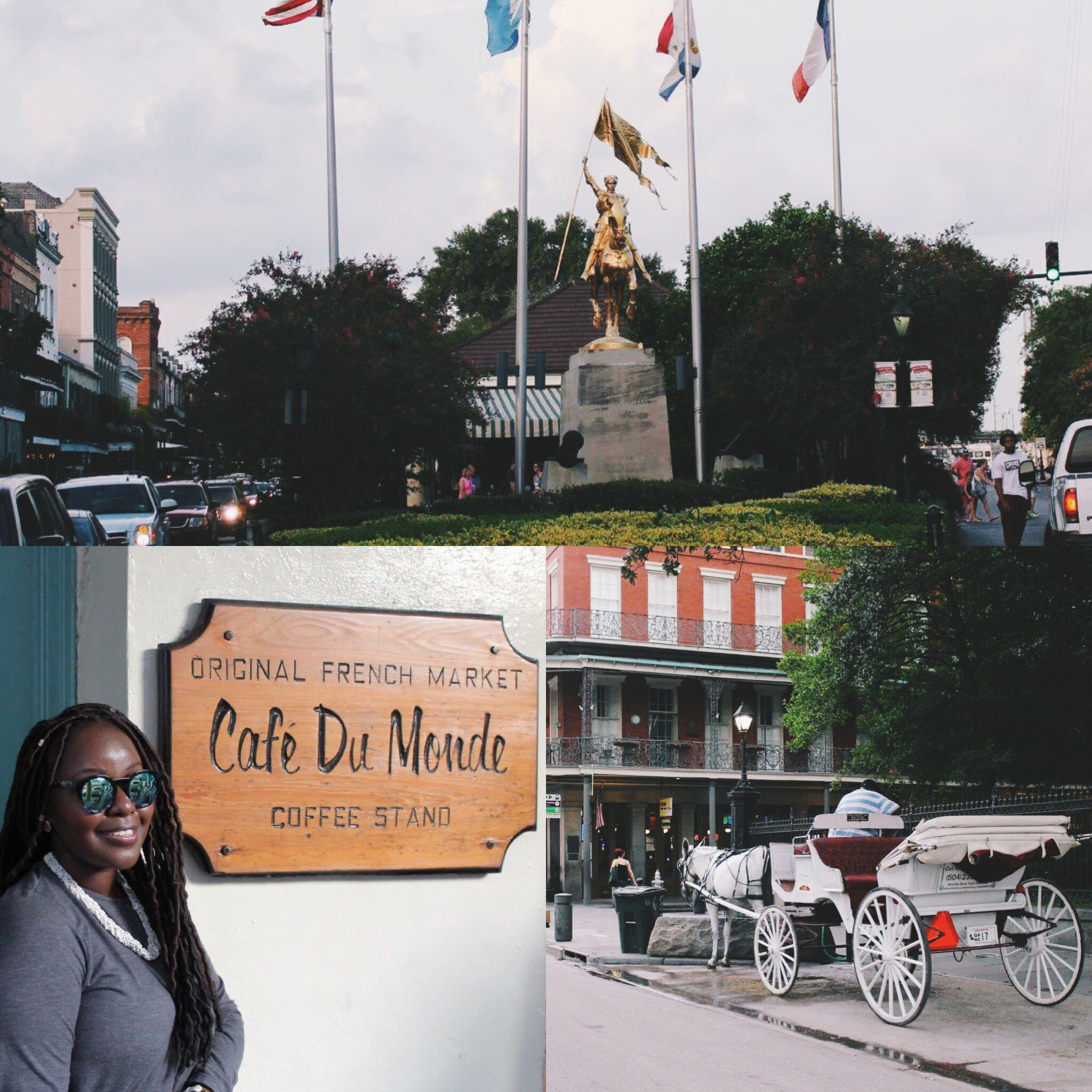 beautiful new orleans streets. cafe du monde new orleans