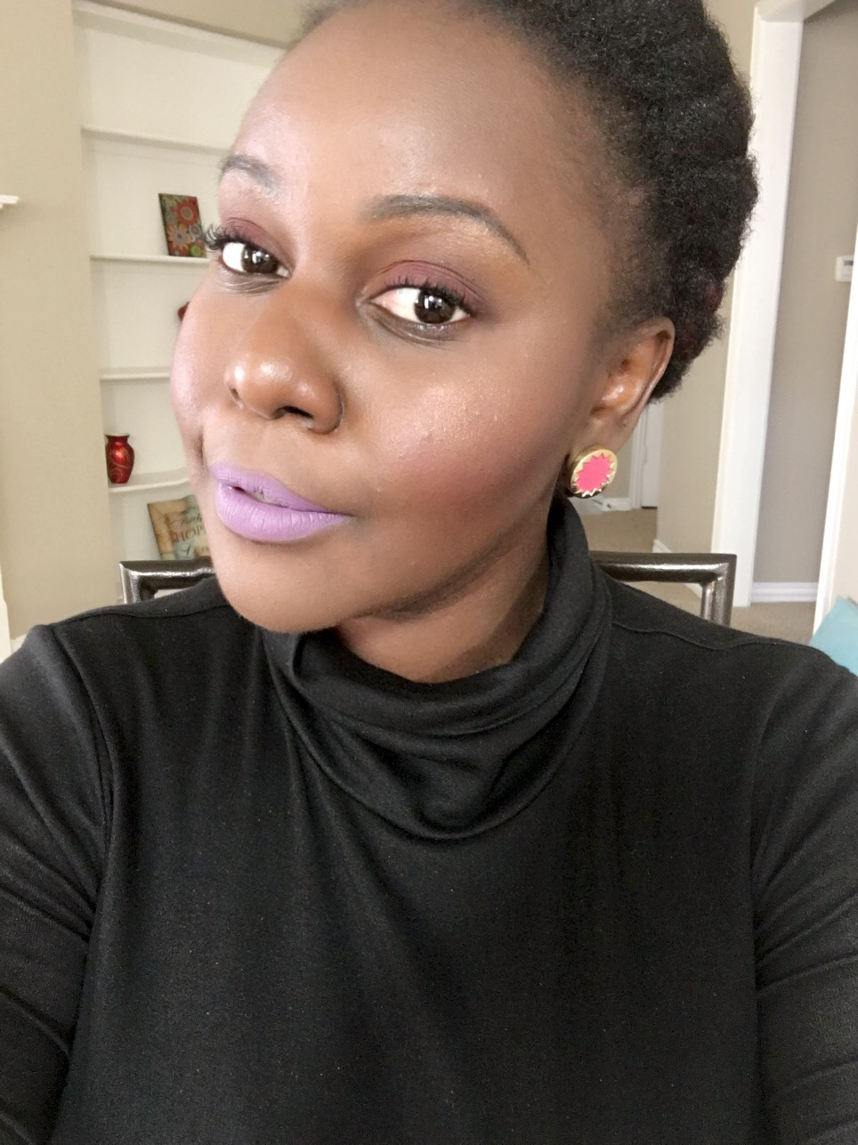 ayeesha Kat Von D Everlasting Liquid Lipsticks Review on Dark Skin Black Women of color