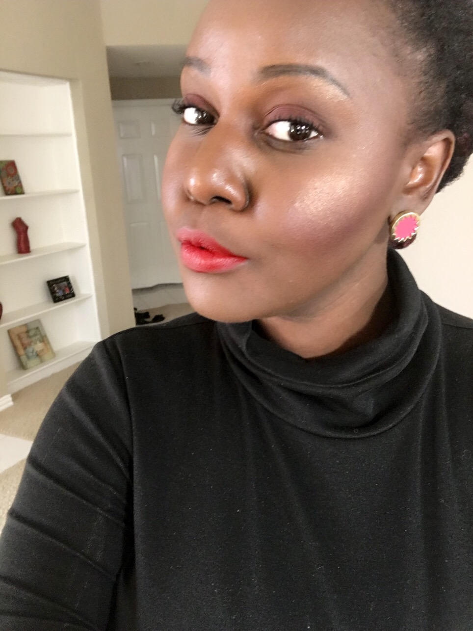 outlaw brick red Kat Von D Everlasting Liquid Lipsticks Review on Dark Skin Black Women of color