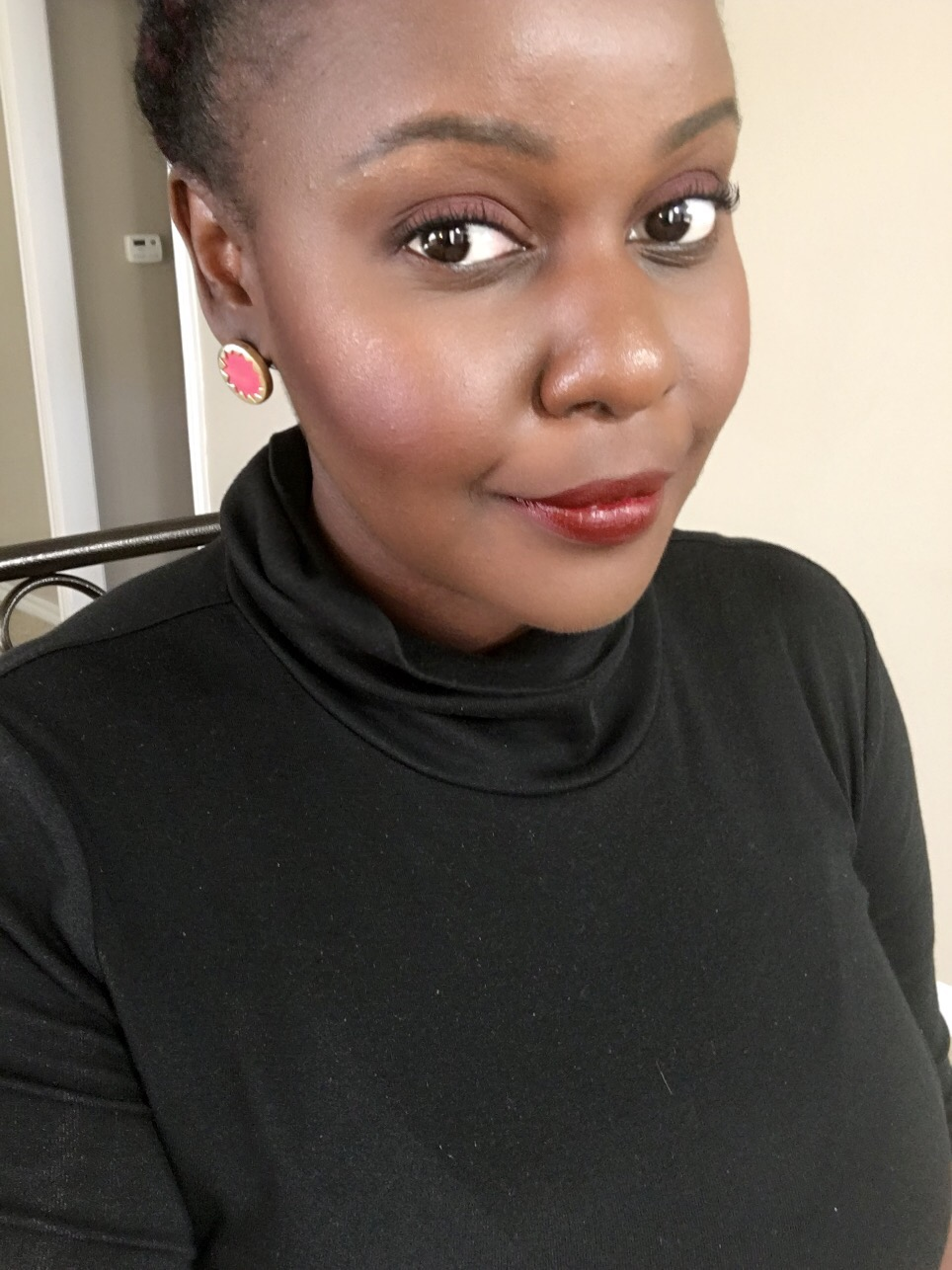 vampira dark lip Kat Von D Everlasting Liquid Lipsticks Review on Dark Skin Black Women of color