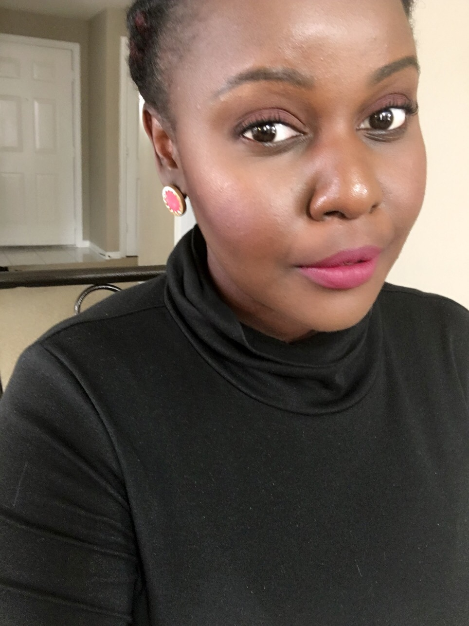 pink matte lipstick for black women sephora collection cream lipstain color 14 black berry sorbet Kat Von D Everlasting Liquid Lipsticks Review on Dark Skin Black Women of color