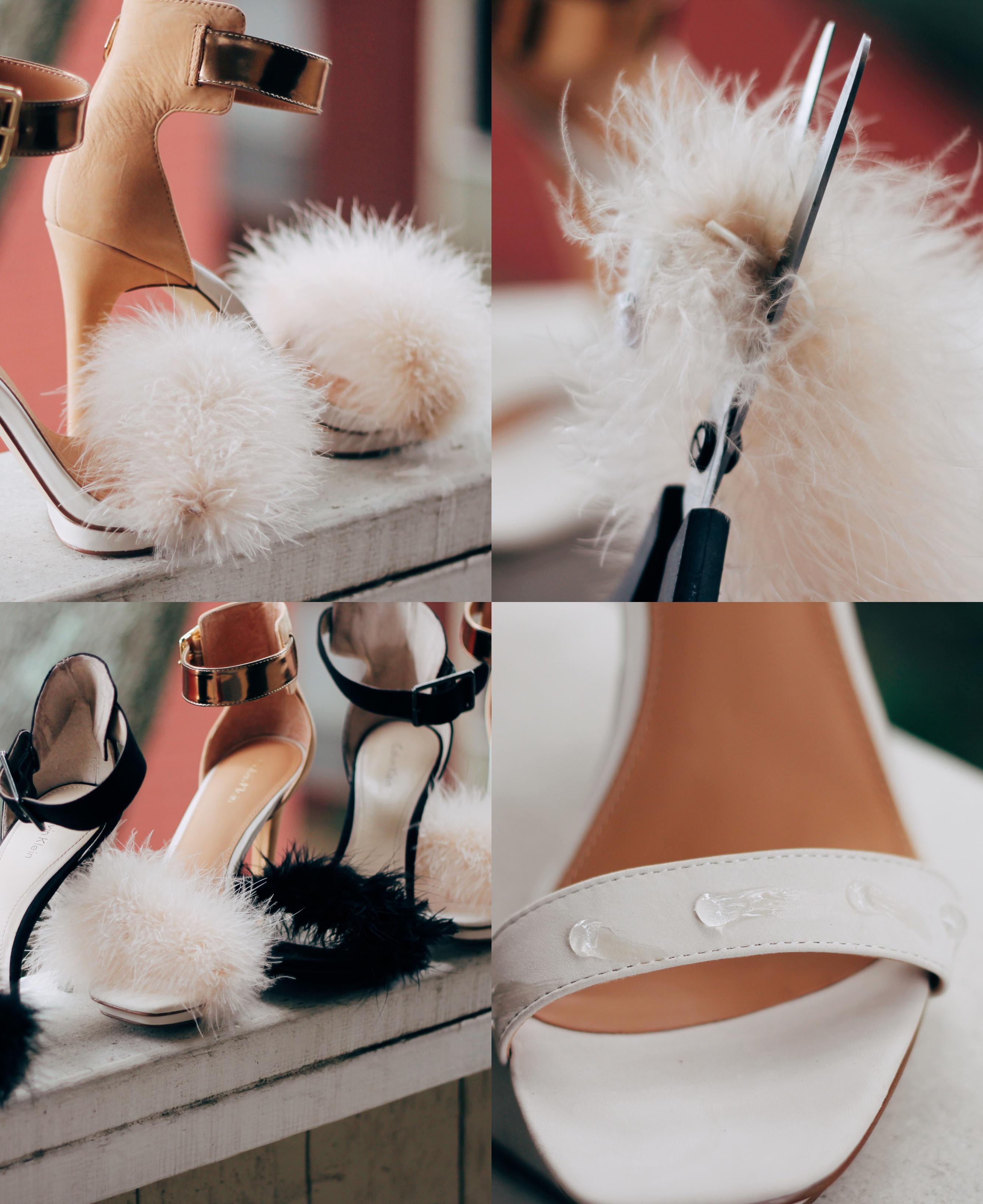 diy how to make faux fur strappy heeled sandals TOPSHOP Pink Rabbit Faux-Fur Fluffy Sandals, kim kardashian fur shoes, how to make pretty shoes, lifestyle blogger, houston blogger, ugandan blogger, fashion blogger