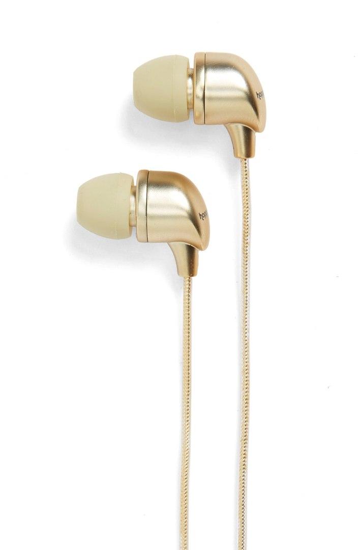 happy plugs gold earbuds earphones
