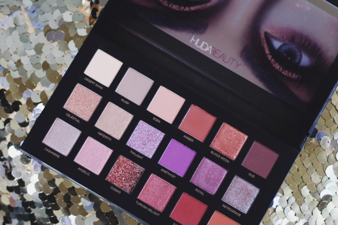 Huda Desert Dusk eyeshadow Review swatches dark skin