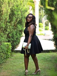 little black dress, introvert tips, tricks, preppy plus size fashion blogs 2017, beautiful curvy girls, how to fill the eye brow of a dark skin, beautiful plus size dark skin girls, plus size black bloggers, clothes for curvy girls, curvy girl fashion clothing, plus blog, plus size fashion tips, plus size women blog, curvy women fashion, plus blog, curvy girl fashion blog, style plus curves, plus size fashion instagram, curvy girl blog, bbw blog, plus size street fashion, plus size beauty blog, plus size fashion ideas, curvy girl summer outfits, plus size fashion magazine, plus fashion bloggers, zara, Rosie the riveter shirt; Emilia embroidered beaded clutch; Vince Camuto heels; Lula shell drop earrings; Aldo Galigossi sunnies,